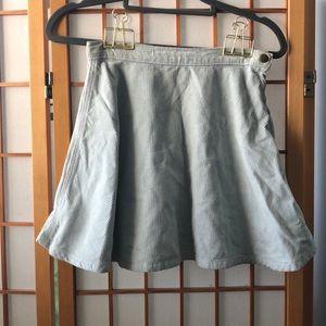 American Apparel Pale Blue Corduroy Skater Skirt